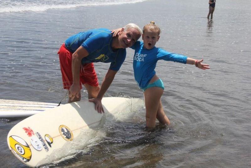 little girl surf